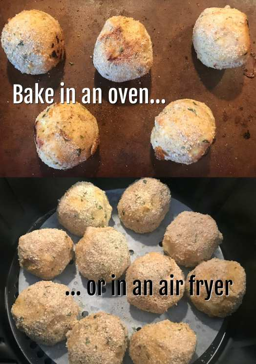 Bake meatballs in the oven or fry them in the air fryer