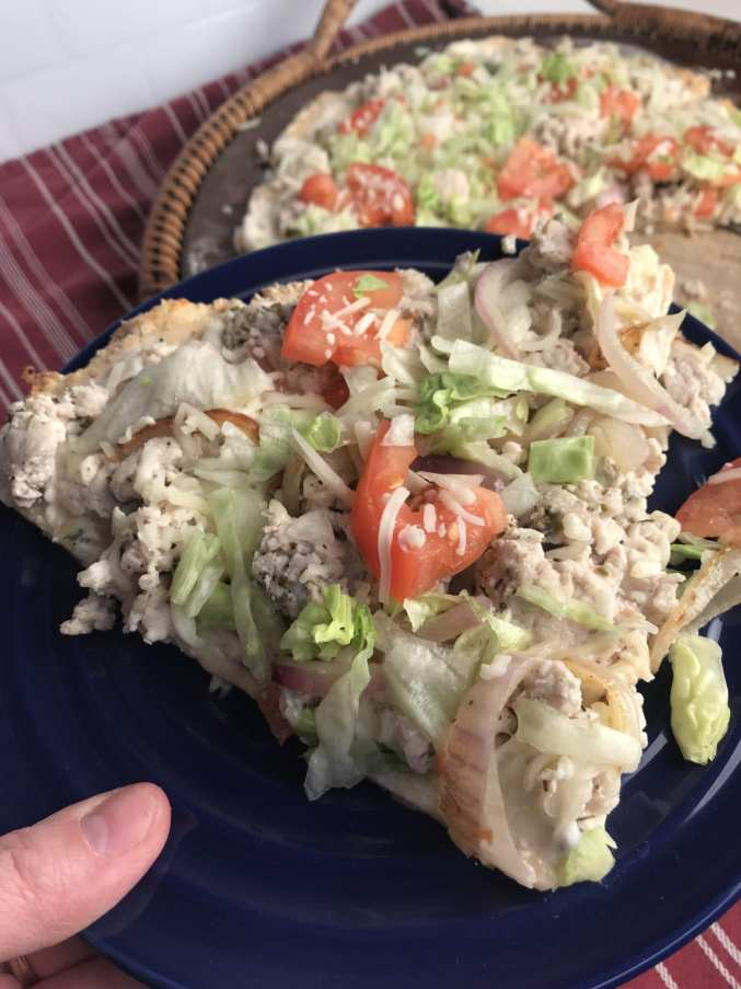 Salad Topped Pizza on Meal Planning Mommies