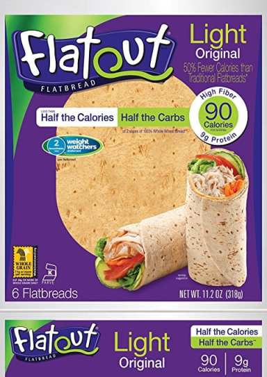 FlatOut flatbread that is low in Weight Watchers SmartPoints - Meal Planning Mommies