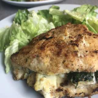Cheesy Spinach Stuffed Chicken Pockets