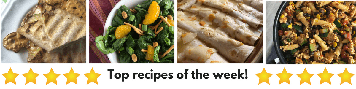 top Weight Watchers friendly recipes on Meal Planning Mommies this week.