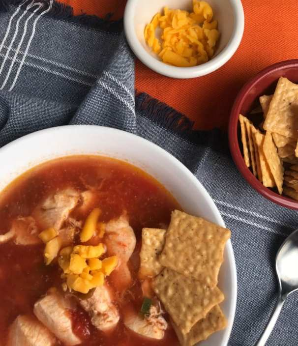 Zero Weight Watchers SmartPoints Mexican Chicken Soup.