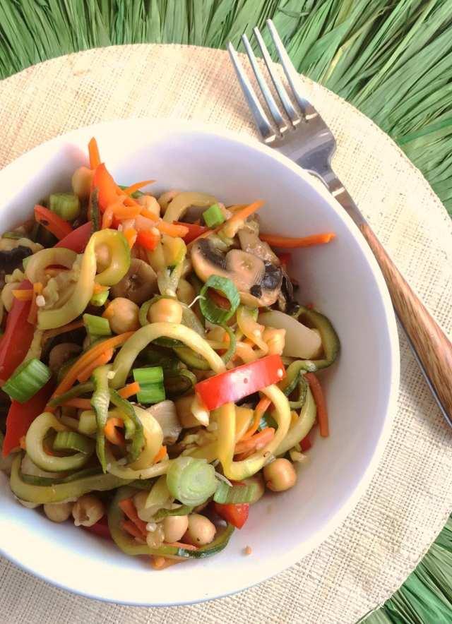 Vegetarian Honey Teriyaki stir fry in this week's Weight Watchers friendly meal plan.