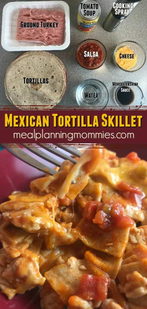 Kid friendly Mexican Tortilla Skillet - Just 5 WW FreeStyle SmartPoints per serving - on Meal Planning Mommies.
