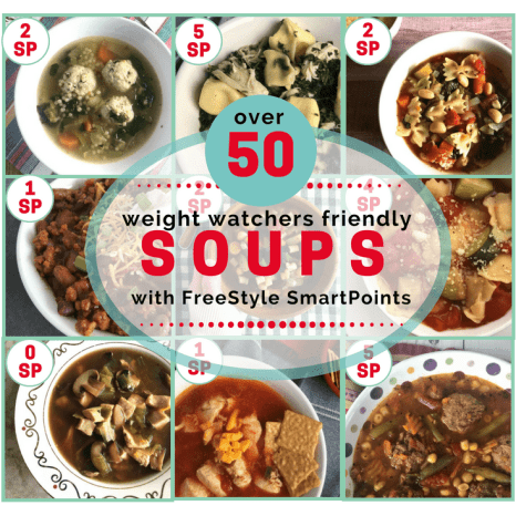 Over 50 Weight Watchers friendly soups that are between 0-6 WW SP per serving.