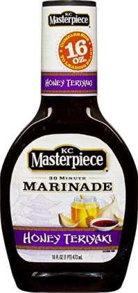 KC Masterpiece Honey Teriyaki marinade is the best stuff ever.