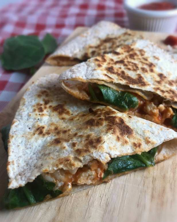 Turkey Parmesan Quesadillas take all the flavors or Chicken Parmesan and turns them into quesadillas. Just 4 WW FreeStyle SmartPoints per quesadilla.