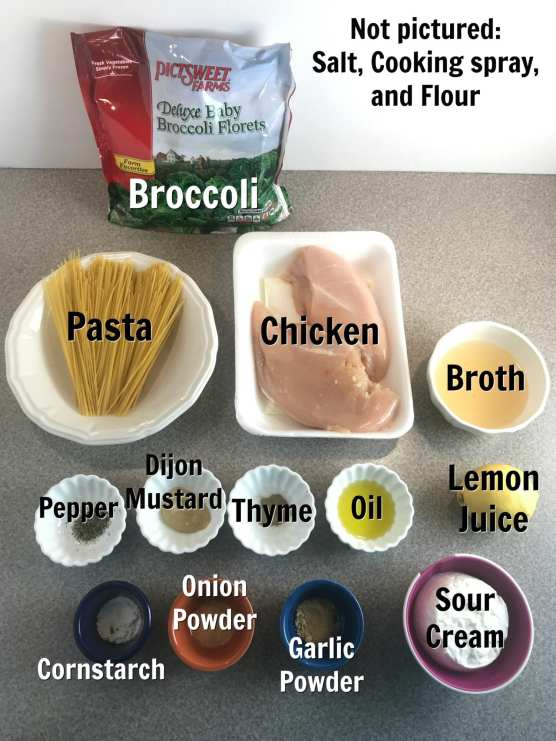 Ingredients for a delicious lemon chicken scallopini on Meal Planning Mommies.