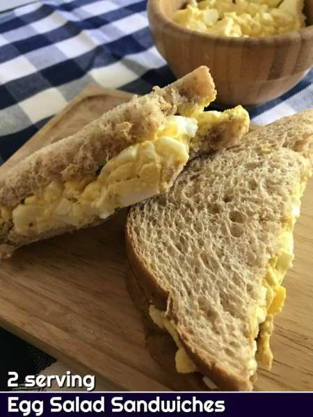 2 serving egg salad sandwich recipe - Just 3 WW FreeStyle Smart Points per sandwich.