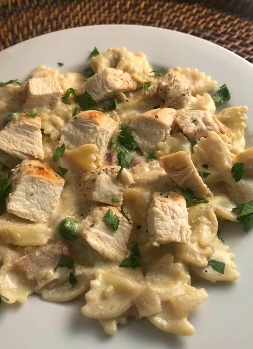 Skinny Chicken Carbonara