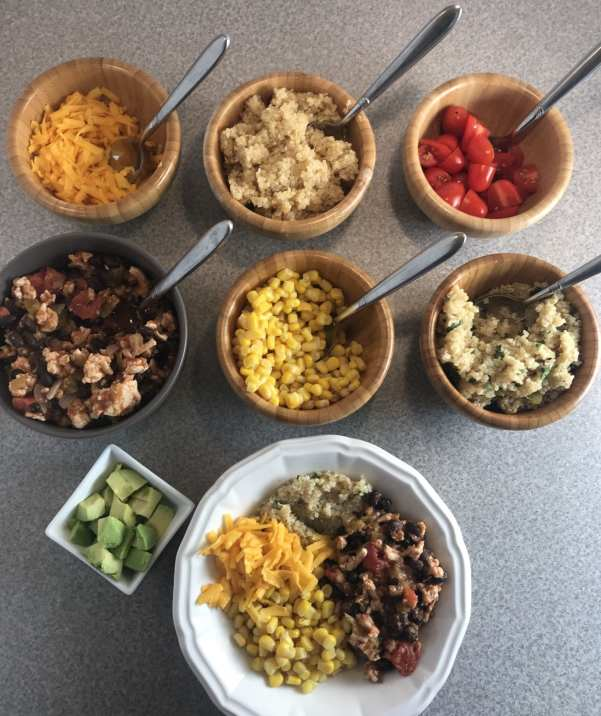 Delicious ingredients for the perfect Mexican Haystack Bowls - Just 4 WW FreeStyle SmartPoints per serving!
