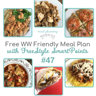 WW friendly meal plan #47