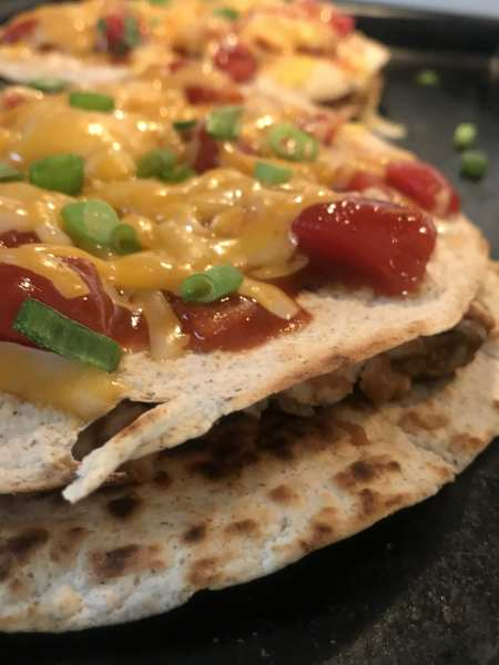 WW friendly Mexican pizzas