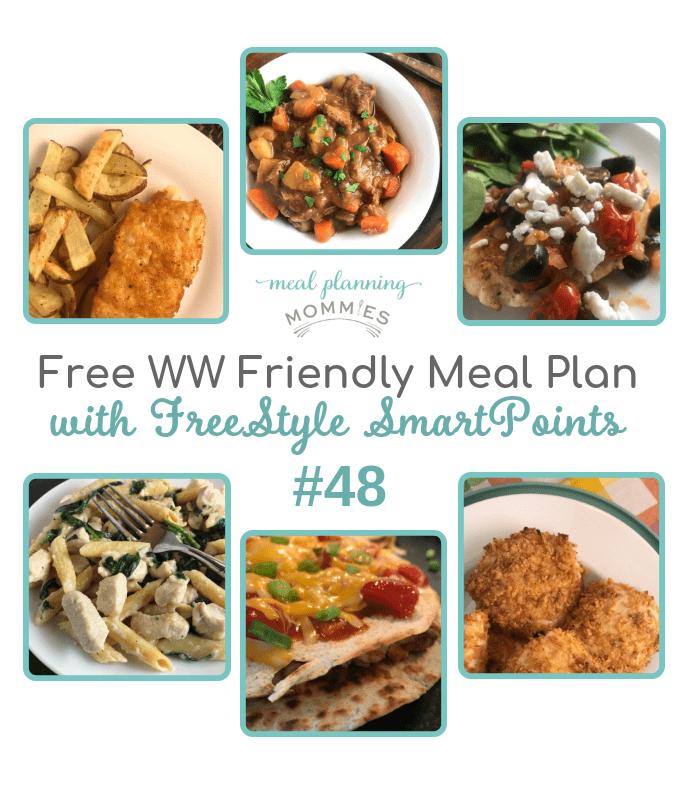 WW FreeStyle Friendly Meal Plan #48