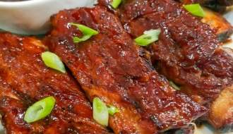 Low and slow oven baked spare ribs