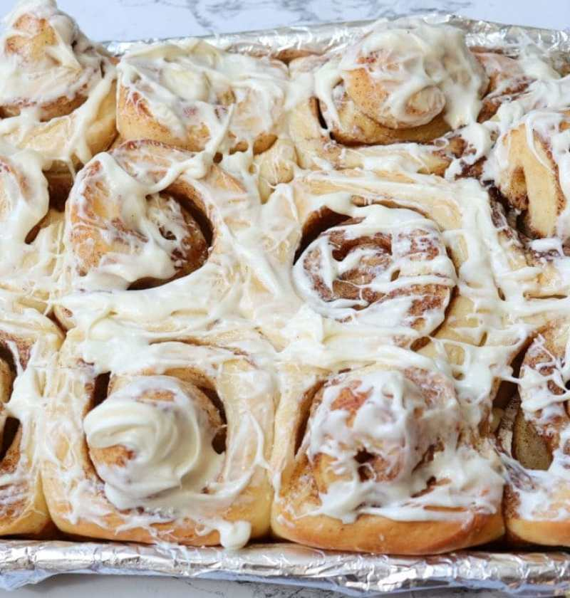 Frosted Cinnamon Rolls