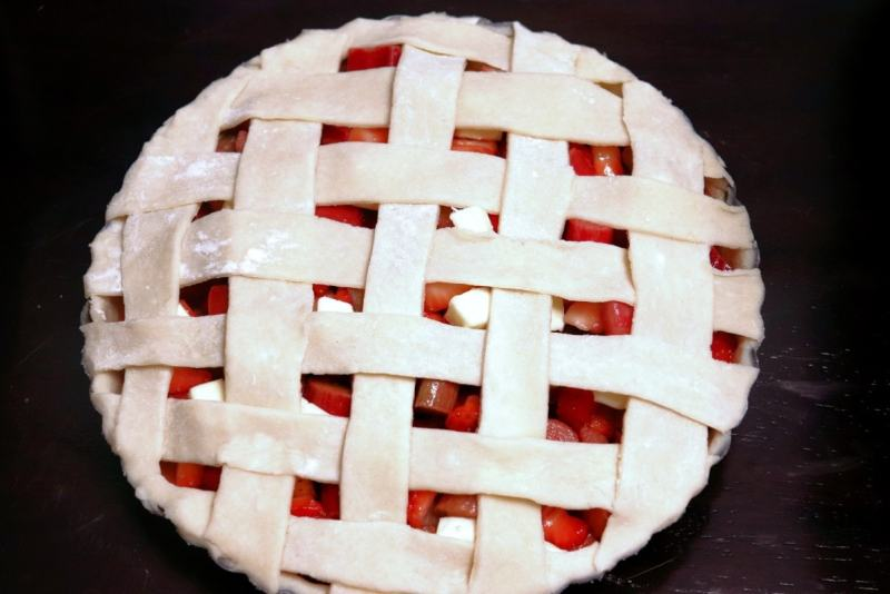How to lattice pie crust