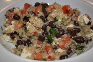 Back bean and tomato quinoa