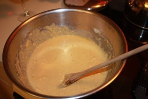 The cornbread batter