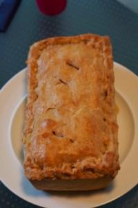 Layered squash, barley adn spinach pie