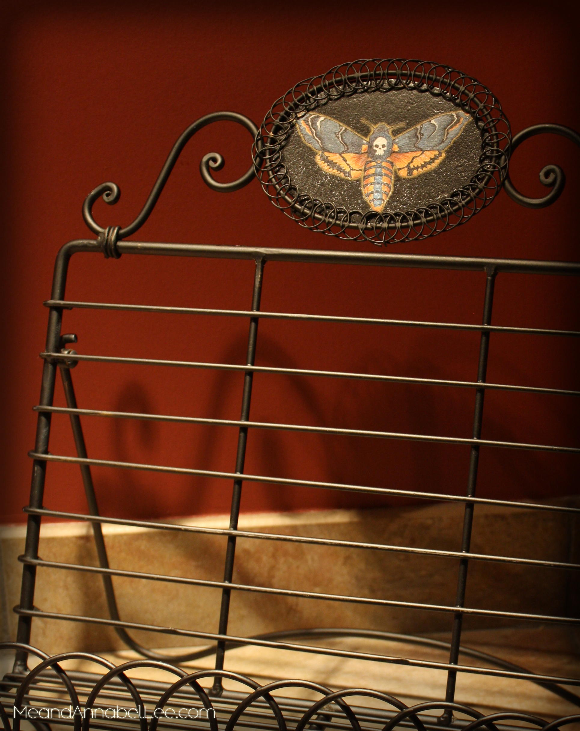Diy Death S Head Moth Book Stand Gothic Diy Image