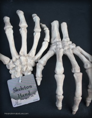 skeleton hands learn to make halloween place card holders and napkin rings gothic dinner