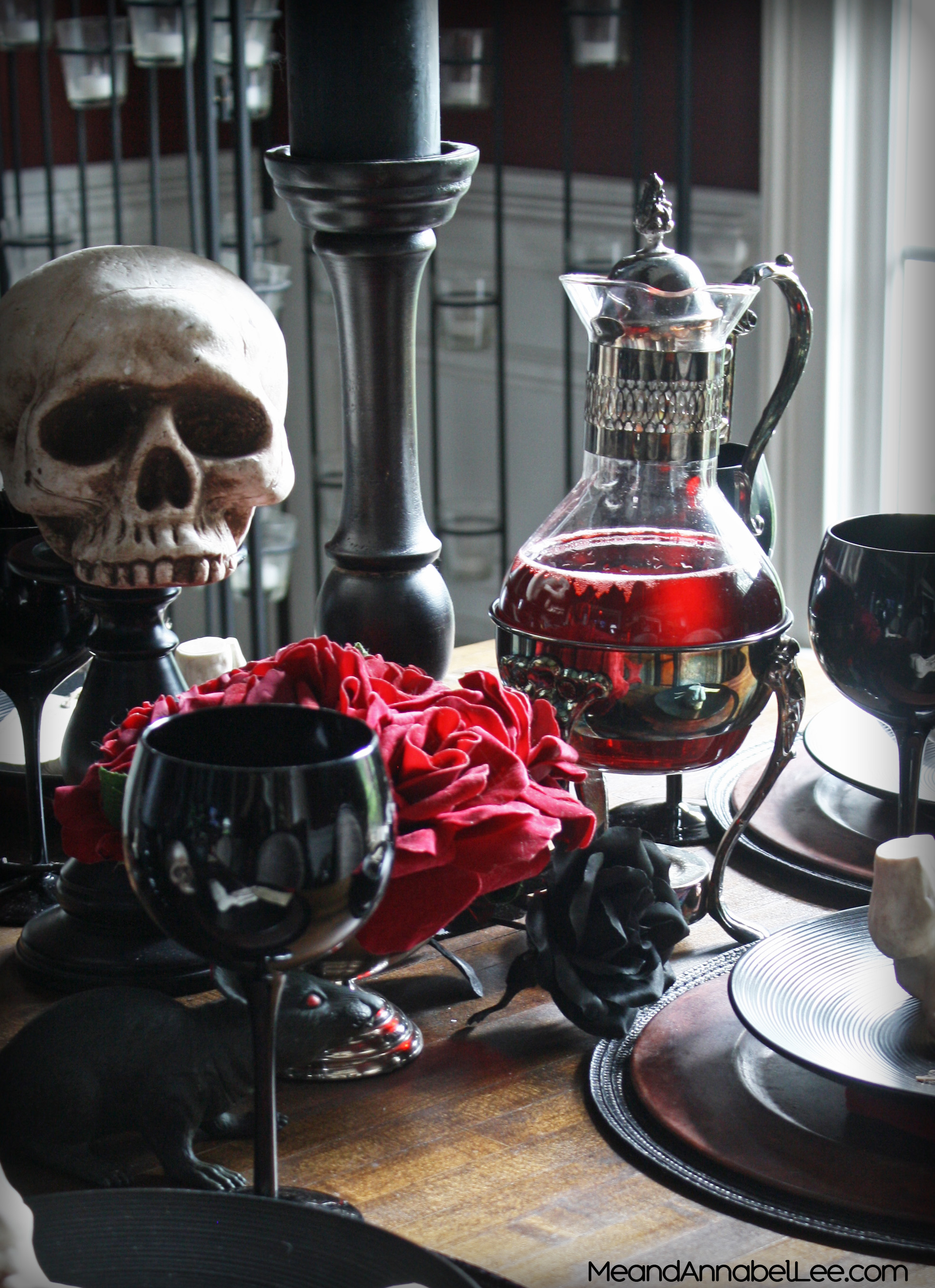 Red Embalming Fluid Halloween Punch | Me and Annabel Lee