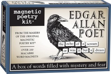 20 Macabre, Twisted, Unusual, Dark, Victorian, & Gothic Stocking Stuffers | Edgar Allan Poet Magnetic Poetry Kit | Poe | Christmas Shopping | www.MeandAnnabelLee.com
