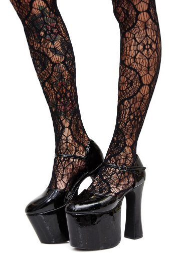 20 Macabre, Twisted, Unusual, Dark, Victorian, & Gothic Stocking Stuffers | Dolls Kill Cobweb Tights | Christmas Shopping | Gifts for Her | www.MeandAnnabelLee.com
