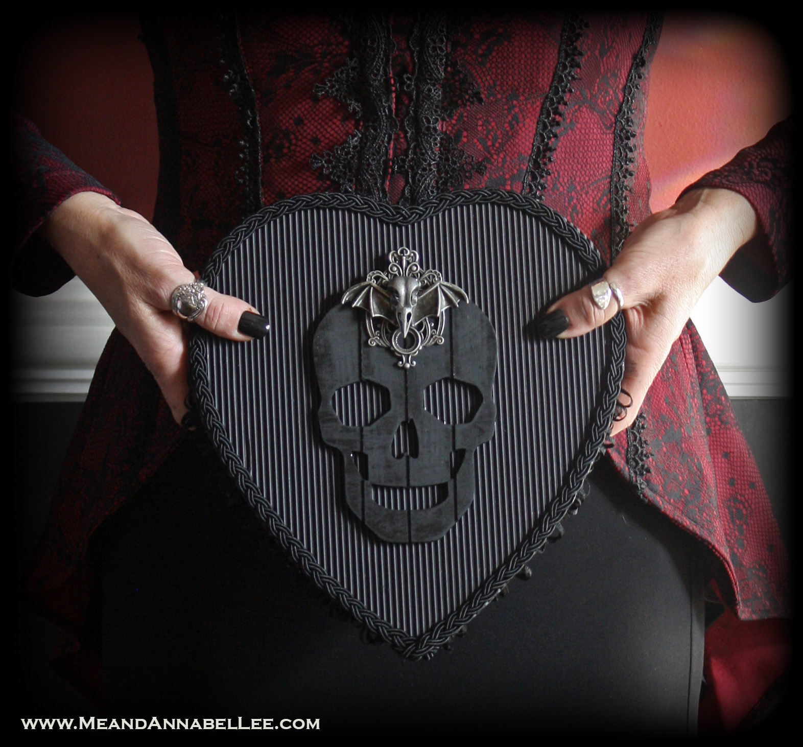 Diy Gothic Valentine Box Variations Me And Annabel Lee