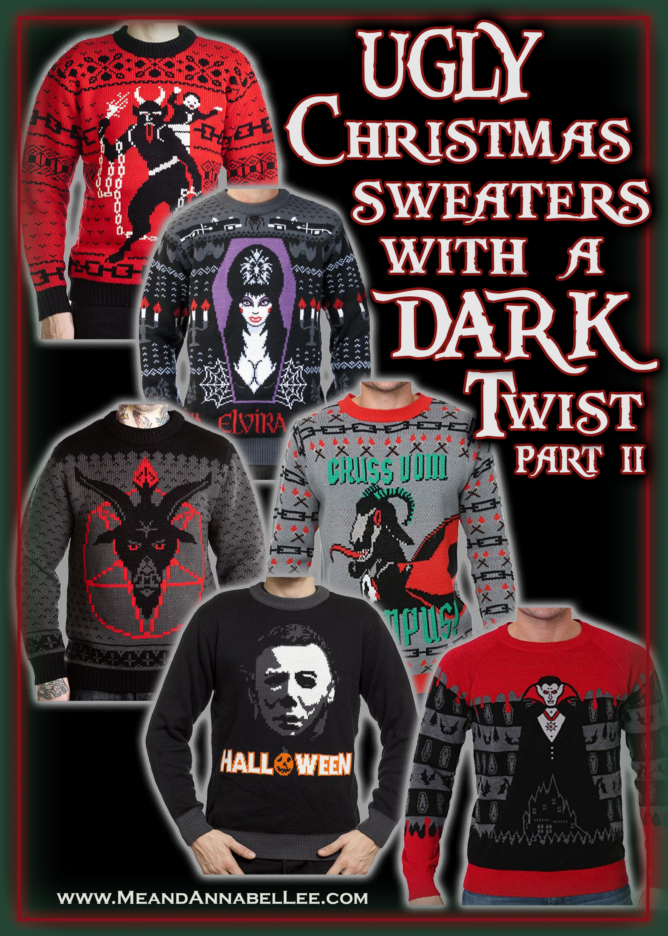 Heavy Metal Christmas Sweater 2020 Dark, Twisted, Gothic, & Creepy Ugly Christmas Sweaters | Me and