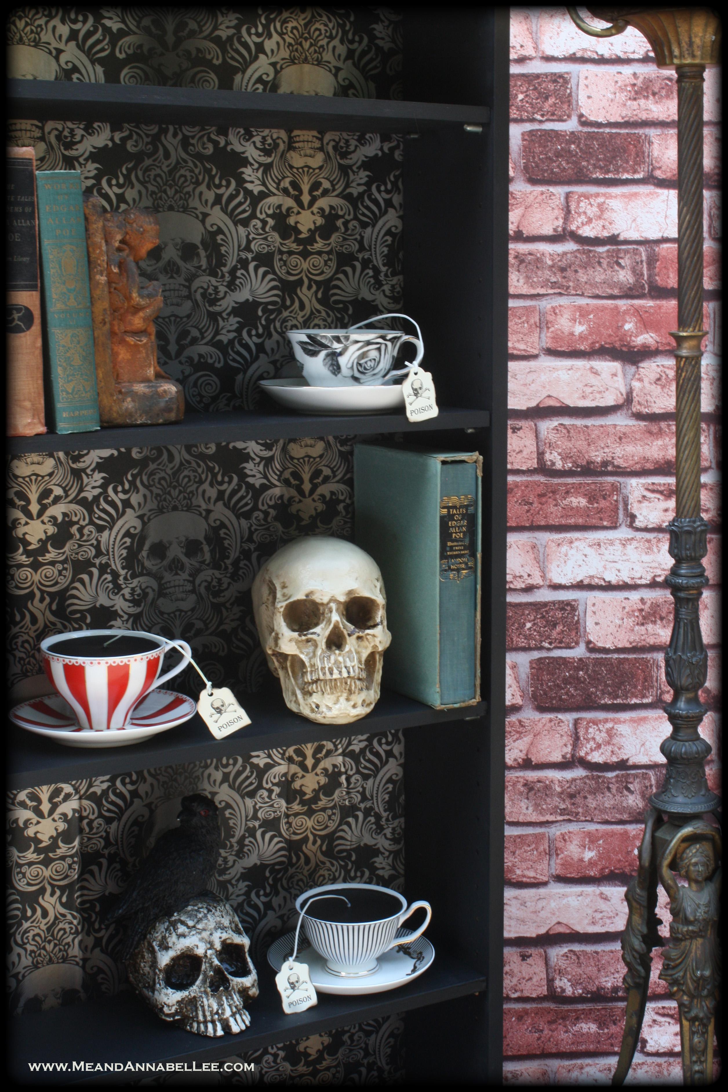 DIY Gothic Skull Bookcase