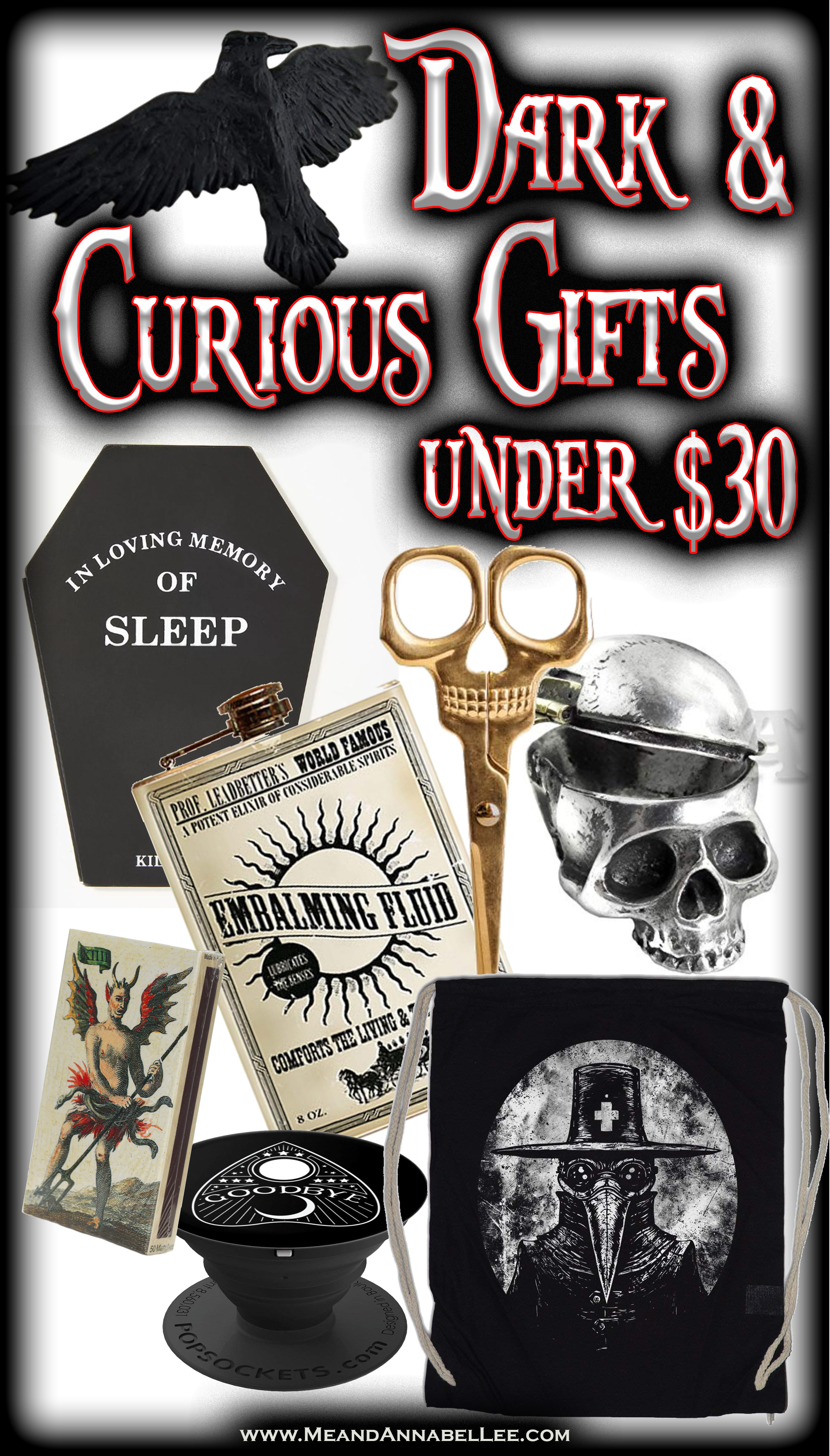 Macabre, Curious, & Gothic Gift Ideas Under $30 | Me and Annabel Lee
