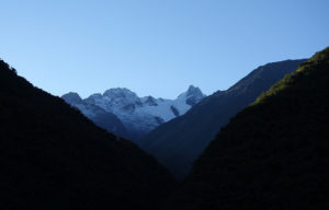 Our last views of Salkantay for the hike.