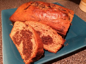 Finished! Chocolate Marbled Banana Bread