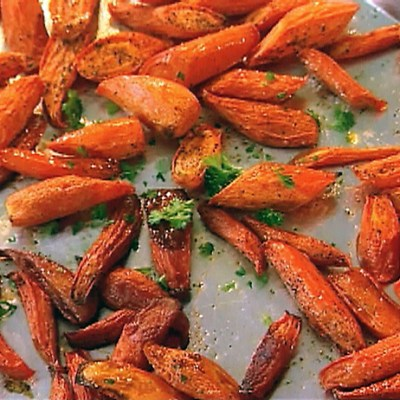 Roasted Glazed Carrots with Dill
