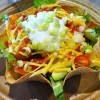 Taco Salad in Home Made Tortilla Bowls