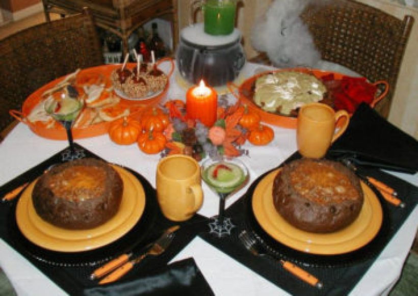 Halloween Dinner Recipes With Pictures.Eyeball Stew In Rye Bread Bowls