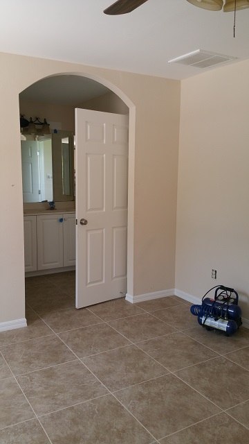 Bathroom door to shower & commode opens out instead of in.
