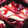 cherry cheesecake brownie