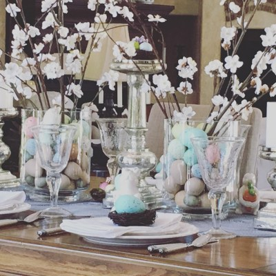 Easter Tablescape and Menu….
