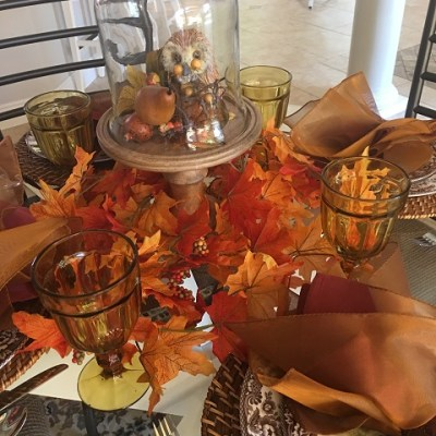 Woodland Theme Tablescape/Transitions Us Into Autumn!