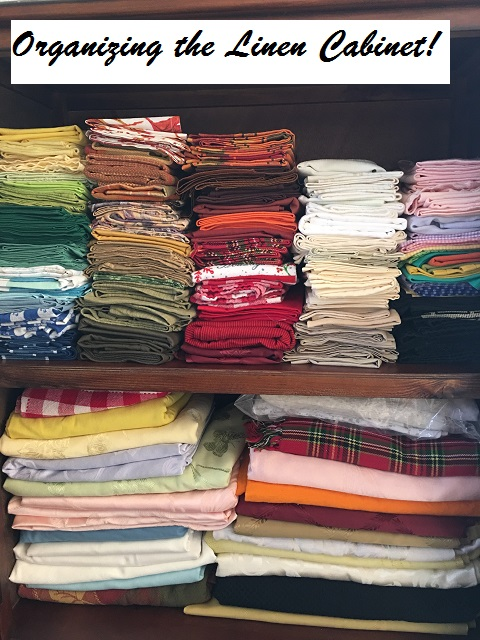 organizing the linen cabinet