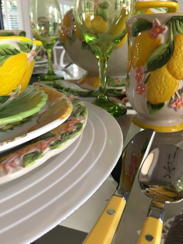 Summer lemon tablescape9