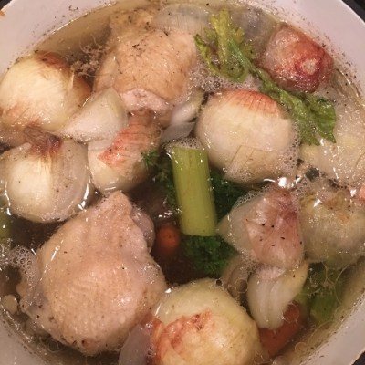 Chicken Stock For The Best Chicken Noodle Soup Ever!
