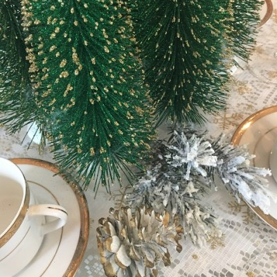 Sometimes You Can't See The Forest For The Christmas Trees Tablescape