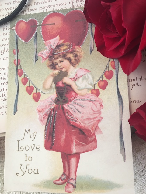 Old fashioned Valentine's Day card for our Valentine's Day Menu