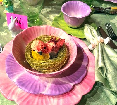 MY Flower Petal Dishes For An Easter Tablescape Is Always Fun!