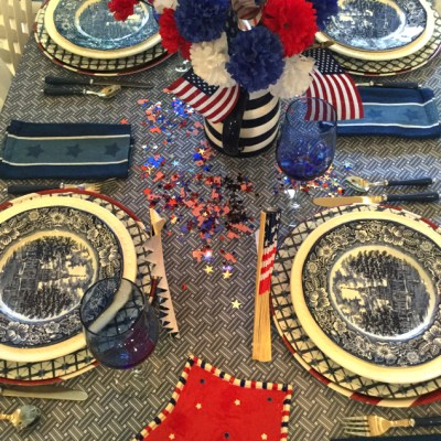 My Patriotic Tablescape And Independence Hall!