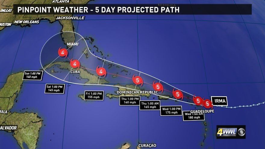 are you ready and are you prepared as we look at the plot of the hurricane
